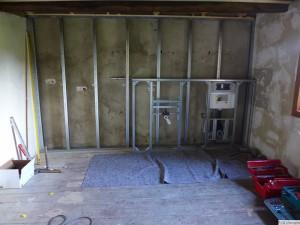 Ständerwerk mit Vorbau für Waschbecken und WC